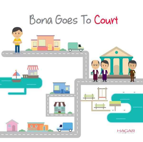 Bona goes to court